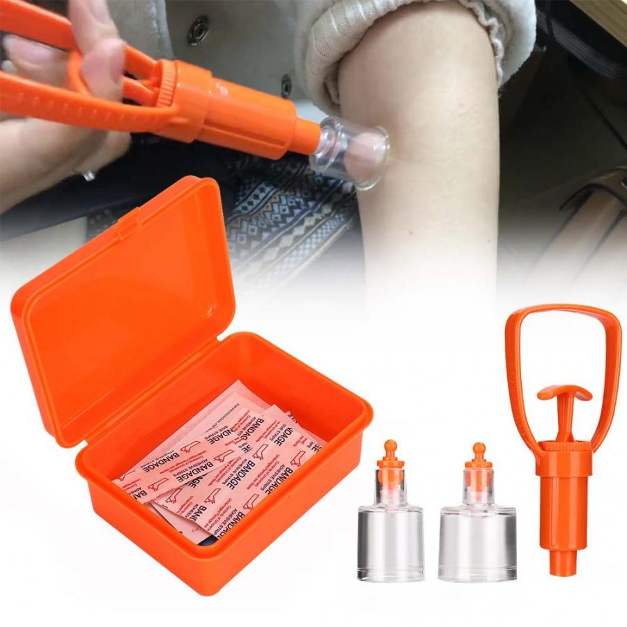 First Aid Emergency Venom Extractor Pump Safety Mosquito Bite Sucking Tool Kit
