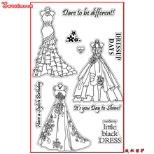 DARE TO BE DIFFERENT DRESS Scrapbook DIY photo card account rubber stamp clear stamp transparent stamp card maker SWEETMOON