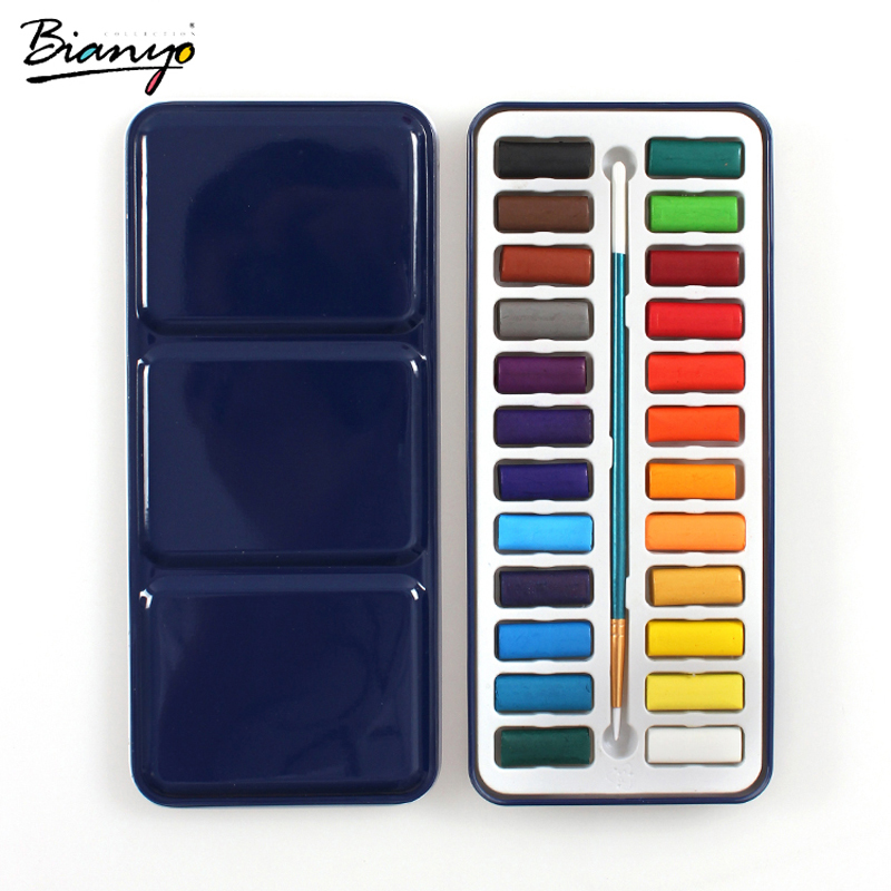 Bianyo Solid Watercolor Paints - 12, 18 or 24 colors 1