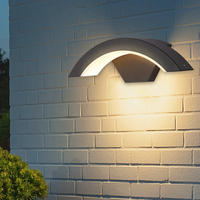 Vanity Light Led Outdoor Wall Light Waterproof Patio Light Outdoor Induction Wall Lamp Living Room Decoration Tiffany Sconce