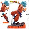 Azul Super Saiyan Goku Son Goku de Dragon Ball Z PVC Figuras de Acción Colección Modelo Juguetes Muñecas Regalos # F