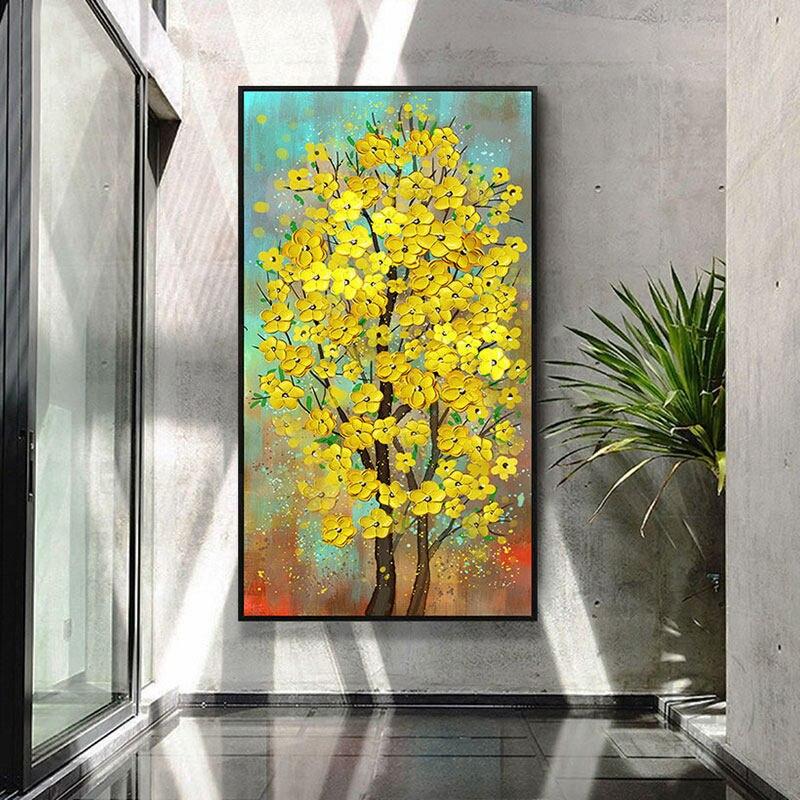 100% peint à la main abstrait fleur arbre Art peinture sur toile mur Art mur parure photos peinture pour salon décor à la maison