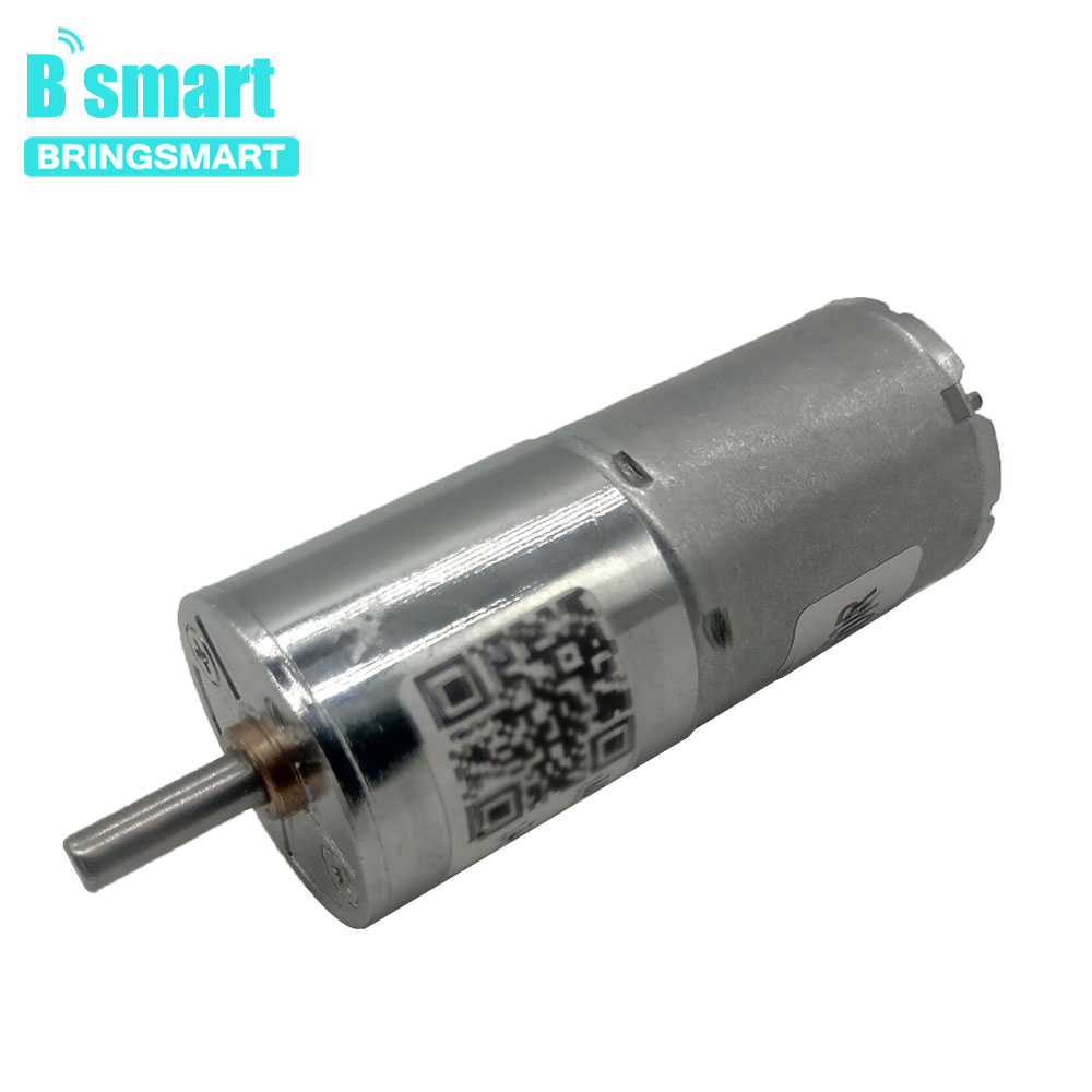 Bringsmart 5W 12V DC Gear Motor 24V Low Speed Reversible Gear Motor Adjustable Speed DC Motor zga37ree 37mm miniature dc gear motor adjustable speed motor reversing 12v 24v 5rpm 350rpm
