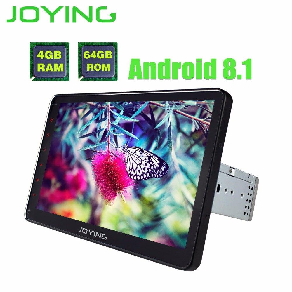 10,1 один Din Android 8,1 головное устройство 4 Гб + 64 универсальный автомобильный Радио Стерео магнитофон поддержка Carplay с цифровым усилителем