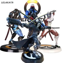 Genji Masters Hanzo figure Zoro Tracer Widowmaker Reaper Soldier :76 Action Figure Model kids Toys Collection Tracer PVC