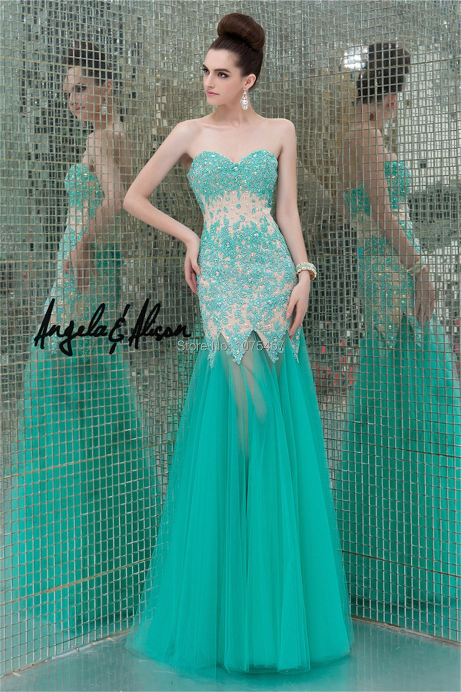 Popular Long Turquoise Prom Dresses-Buy Cheap Long Turquoise Prom ...