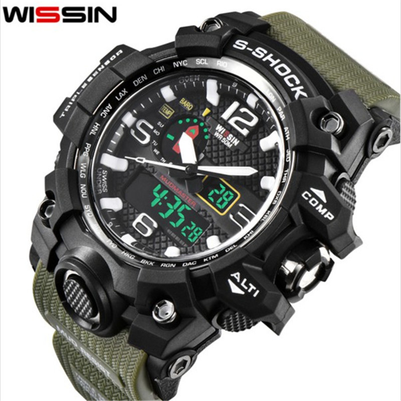 Top Brand Men Sport Watches Fashion S Shock Outdoor Man LED Dual Time Digital Quartz Watch Army Military Clock Relogio Masculino 2016 brand o t s fashion outdoor sport waterproof led mens clock digital