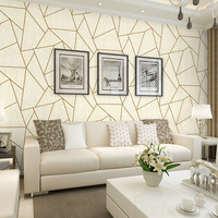Nordic Fashion Black Gray Geometric lines Wallpaper 3d Flocking for Living Room Home Decor White Non woven Wall Paper