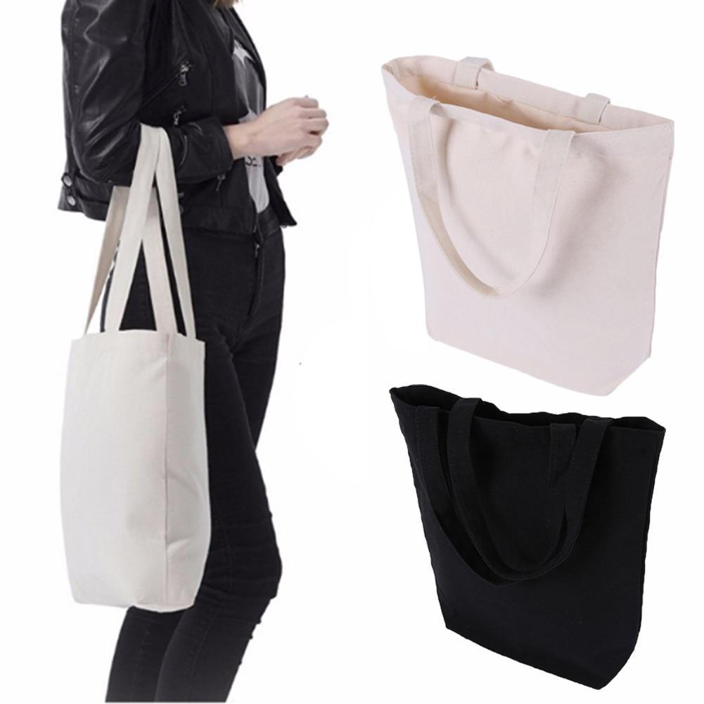 DIY High-Quality Women Men Handbag Canvas Tote bag Reusable Cotton Shopping Bag
