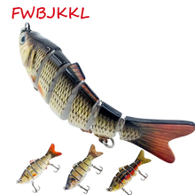 1PC Jointed Fishing Lure Laborious Bait Multi105mm/17g Wobblers Carp Wobblers 6 Segments Lake Reservoir Pond Synthetic Fishing Bait