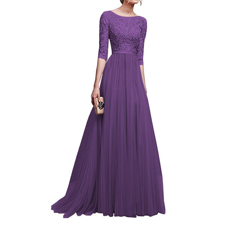 10pcs/lot 2018 New Autumn And Winter European and American Vintage dress chiffon retro style party long dress