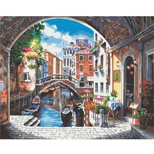 Windows Landscape DIY Painting By Numbers Kit Acrylic Paint By Numbers Wall