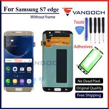 Оригинальный ЖК-экран для Samsung Galaxy S7 края экрана G935F G935FD сборки Замена с клеи и инструменты Бесплатная доставка