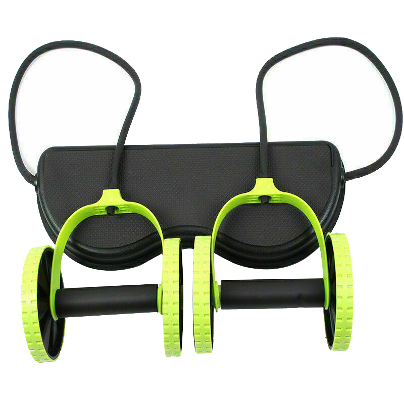 hot Fitness Wheels Roller Elastic Abdominal Muscle Resistance Pull Rope for Training Exercise Home YS BUY