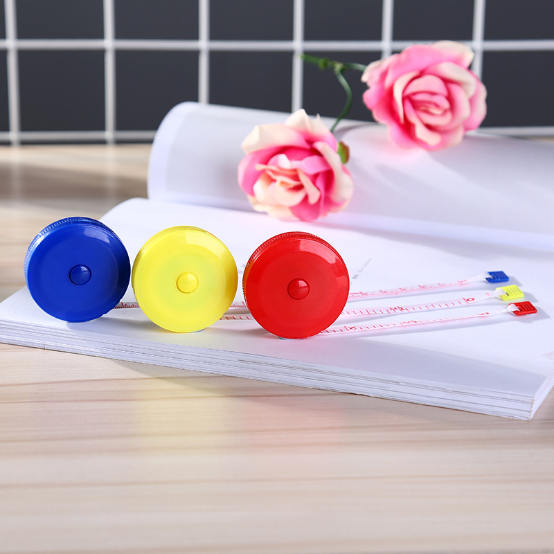 1 pc New Retractable Colorful Portable Retractable Ruler Tape Measure 60 inch Sewing Cloth Dieting Tailor 1.5M