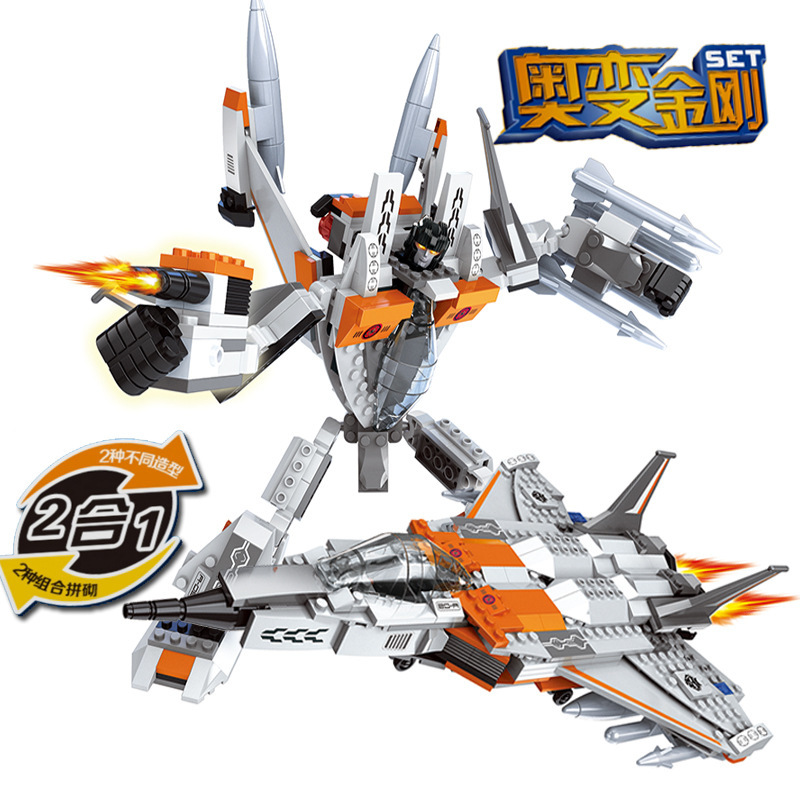 Ausini Model building kits compatible with lego city Robot Fighter 2in1 1036 3D blocks Educational toys hobbies for children
