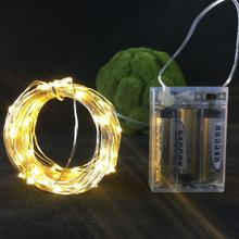 100*10M 100leds LED battery waterproof led silvery wire string lights christmas wedding party decoration garland strip lights