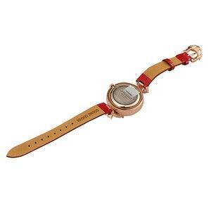 Image 5 - Bowknot Crystal Clock Lady Womens Watch Hours Japan Quartz Fashion Bracelet Leather Shell Luxury Rhinestones Girls Gift Box