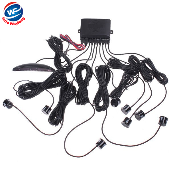 Factory Selling Hot sale Car LED Display 8 Sensors Kit Reversing Parking Radar Buzzer System free