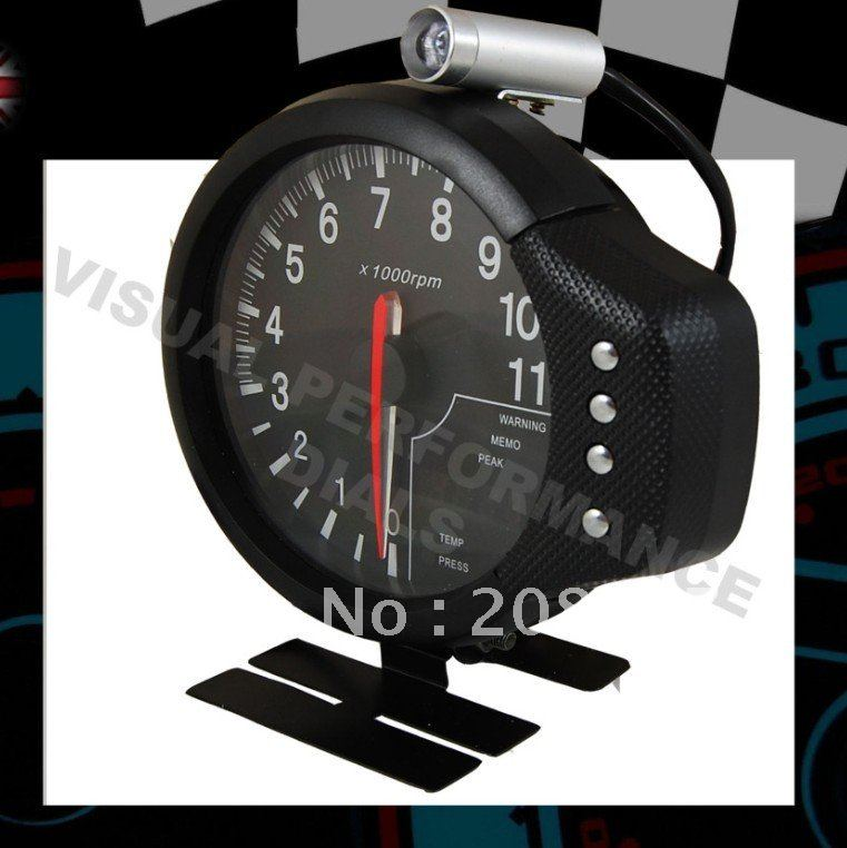 5 Tachometer EL-3-in-1 Water Temp Oil Press RPM Meter