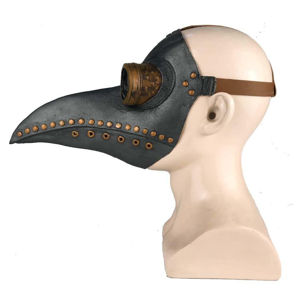 HTB1mJKHaRCw3KVjSZFuq6AAOpXak - หน้ากากกาฬโรค ยุคกลาง ความตายสีดำ หน้ากากคอสเพย์ผู้ใหญ่ Steampunk Plague Doctor Bird