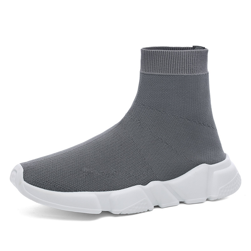 High Top Men Shoes Sports Shoes Women Socks Sneakers Running Man Couple Training Shoe Black Large Size 35 47 in Men 39 s Casual Shoes from Shoes