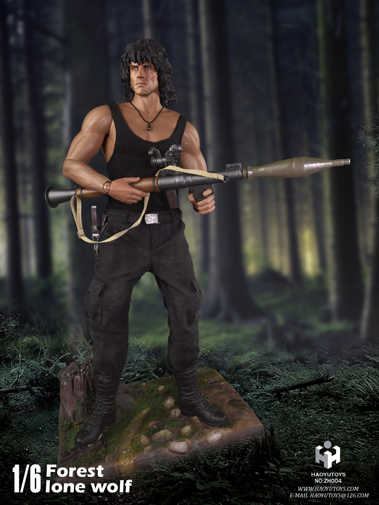1/6 scale figure First Blood John J. Rambo Jungle wolf Sylvester Stallone 12 Action figure doll Collectible Model plastic toy sylvester
