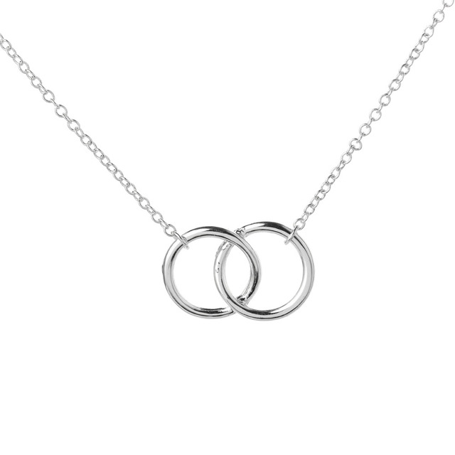 Yiustar infinity double circle for girls interlocking circles yiustar infinity double circle for girls interlocking circles pendant wedding necklaces party gifts xl184 junglespirit Gallery