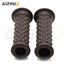 7/8'' 22mm Motorcycle Handle Grips Silicone Retro Vintage Cafe Racer Handle Bar Grip For Kawasaki Yamaha Ducati KTM Honda Suzuki asus vg248qe