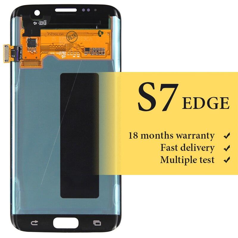 Vendita calda di qualità OEM Per Samsung S7 bordo G935f schermo lcd per display del telefono cellulare di ricambio 5.5 pollice schermo lcd assambly