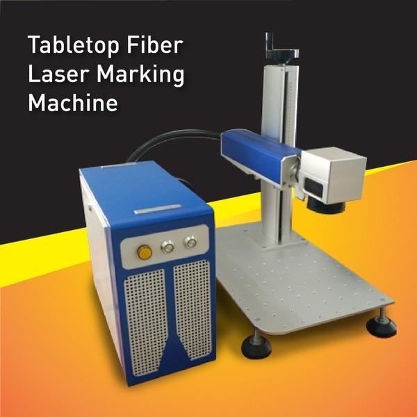 Macchina per incisione laser da tavolo in fibra 30W ad alta potenza, area di marcatura grande adatta