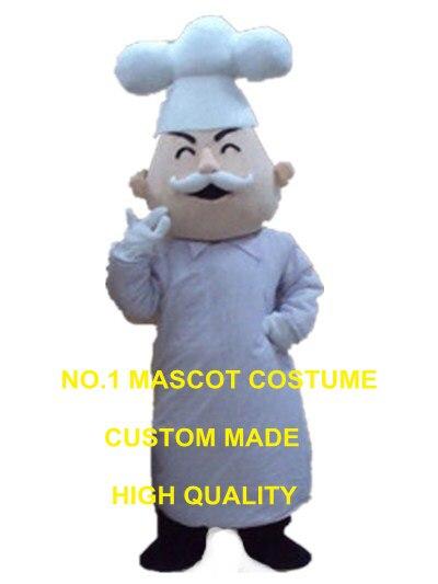 Chef francese costume della mascotte cuoco personaggio dei cartoni