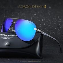 [AORON] Alloy Men's pilot Polarized Sunglasses Unisex Coating Mirror Sun Glasses Male outdoor Eyewear A143