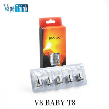 e zigarette core original Smok TFV8 Baby Replacement Coil head TFV8 baby T8 T6 X4 Q2 TFV8 baby RBA coils