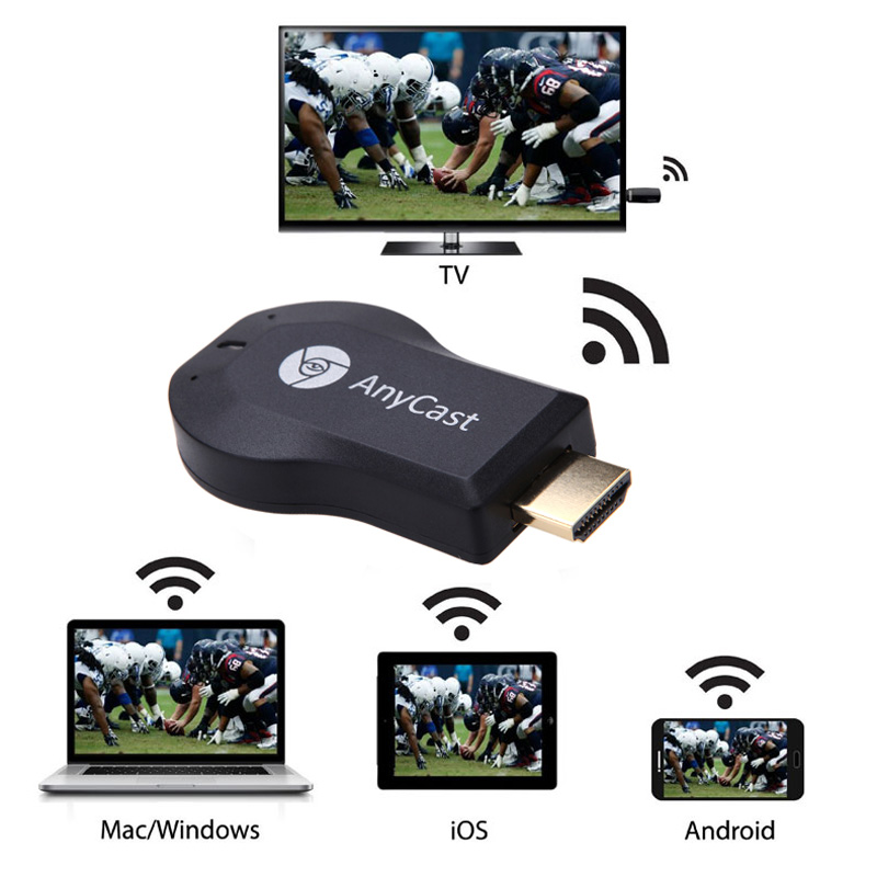 HD 1080 P AnyCast M2 Più Airplay Wifi Display TV Dongle ricevitore DLNA Facile Condivisione Mini TV Stick per Android IOS WINDOWS