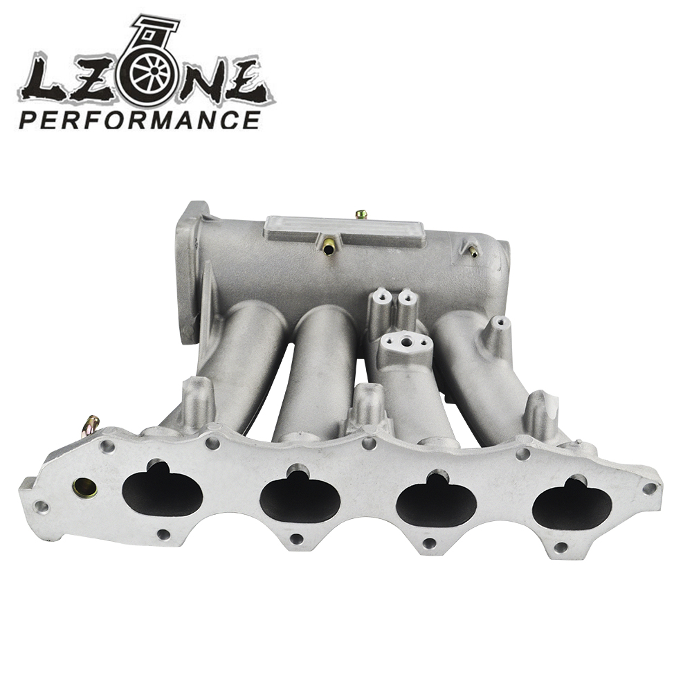 LZONE - Intake Manifold FOR 99-00 Honda Civic 92-01 Acura Integra Aluminum Cast Intake Manifold Upgrade Bolt On JR-IM42-CA lzone racing new intake manifold for mazda 3 mzr for ford focus duratec 2 0 2 3 engine cast aluminum intake manifold jr im49sl