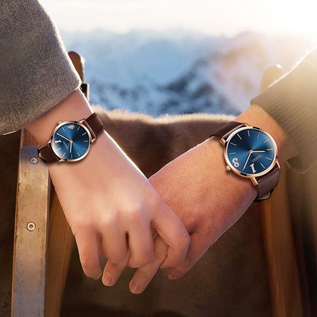 Couple Watches OLEVS Brand Women Watch Leather Luxury Girl Quartz Watch Casual U