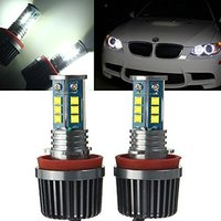 2x H8 120W CREE Chips LED Halo Halo Ring Bulbs 6500K Angel Eyes DRL Fog Canbus No Error for BMW E60 E61 E70 E87 E90 E92 E93 X5