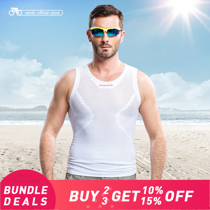 Santic Men Cycling Base Layer Summer Jersey Cycling Tight Vest MTB Road Bike Bicycle Vest Running Vest Sport 5011/6018Santic Men Cycling Base Layer Summer Jersey Cycling Tight Vest MTB Road Bike Bicycle Vest Running Vest Sport 5011/6018