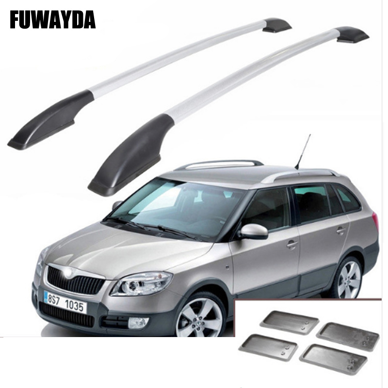 FUWAYDA car styling stickers decoration for Skoda Fabia roof rack aluminum alloy luggage rack Free Punch 1.3 meter free shipping fiesta hatchback high quality aluminum roof rack luggage rack punch free 1 3 m
