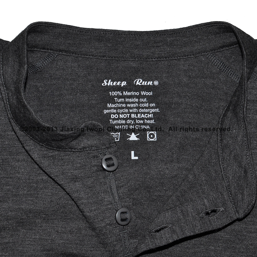 8c14eedd2 Huntsman Henley Men 100% Merino Wool Jersey Base Layer Long Sleeve  Midweight Top Out door Warm Thermal TAD Style Clothes Shirt-in T-Shirts  from Men s ...