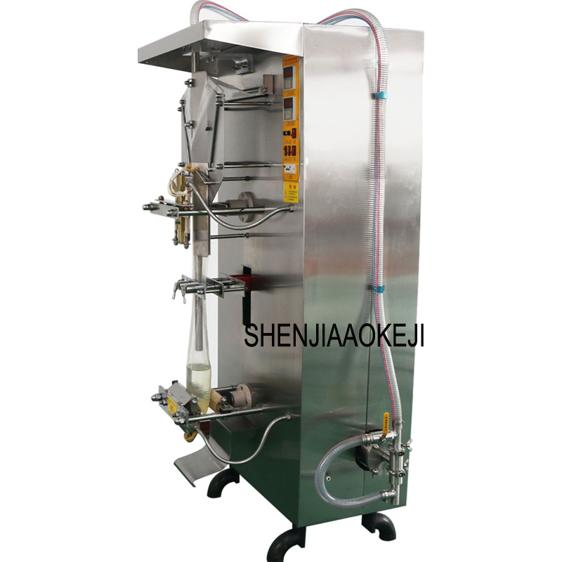 220V SJ-1000 Stainless Steel Liquid Packing Machine Automatic Water Soymilk Packing Machine Quantitative Food Sealing Machine