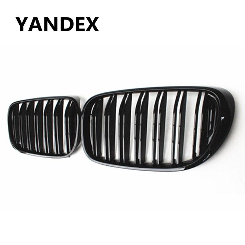 YANDEX 7 Series G11 Racing Grill 2slat Black Grille for BMW G11 G12 2015+ 730i 730Li 740i 740Li 750i 750Li Front Bumper Mesh