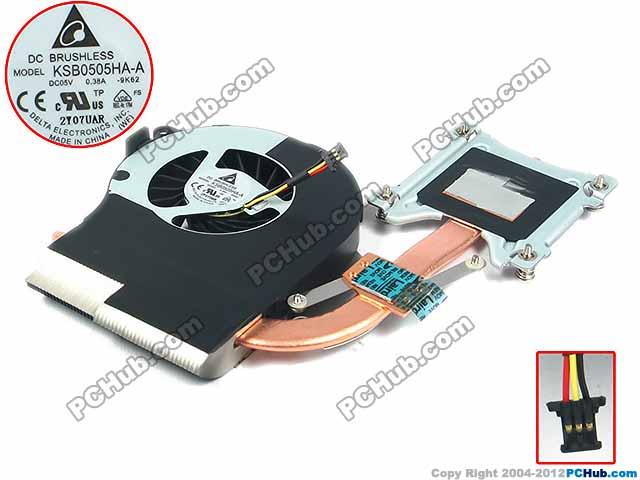 Delta Electronics 606014-001 KSB0505HA-A Heatsink Fan DC 5V 3-wire for dell e5430 082jh0 82jh0 fan bata0613r5h dc28000afvl mf60120v1 c430 g9a ksb0505ha