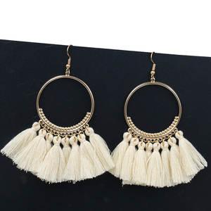3a5fcab9b9208f Crazy Feng Tassel Earrings for Women Big Jewelry Long