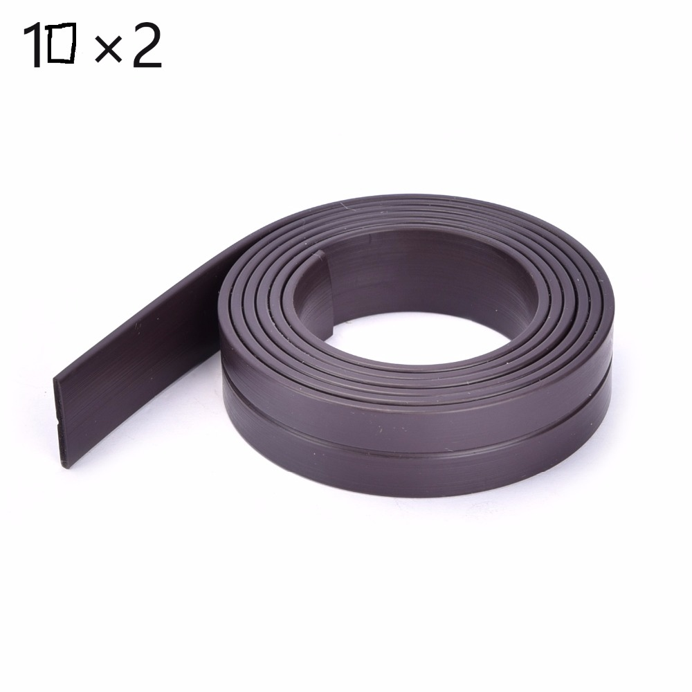 High Quality 1M 10 x 2 mm Rubber Self Adhesive Magnetic Stripe Flexible Magnet DIY Craft Tape for shop office home school file free shipping 2 meters self adhesive flexible magnetic strip magnet tape width20x1 5mm ad teaching rubber magnet