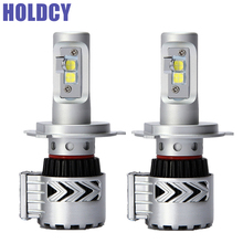 HoldCY H4 LED Car Headlight Bulb 72W 12000LM  All In One Automobile LED HeadLamp DRL Fog Lamps Hi-Lo Beam Car LED Headlights 12v