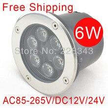 FREE SHIPPING 6w DC12V/24V IP68 LED underground lamp, Buried/Inground light 3years warranty outdoor/garden using