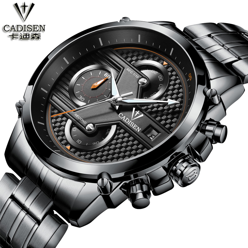Cadisen Hot Watch Men Top Brand Luxury Sport Fashion Casual Quartz Mens Watches Stainless Steel Waterproof Watch Relogio Man все цены