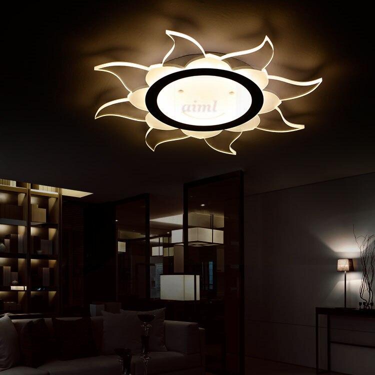 NEW LED super thin living room lamp acrylic on the sun shaped bedroom ceiling light 85 265v High quality in Ceiling Lights from Lights Lighting